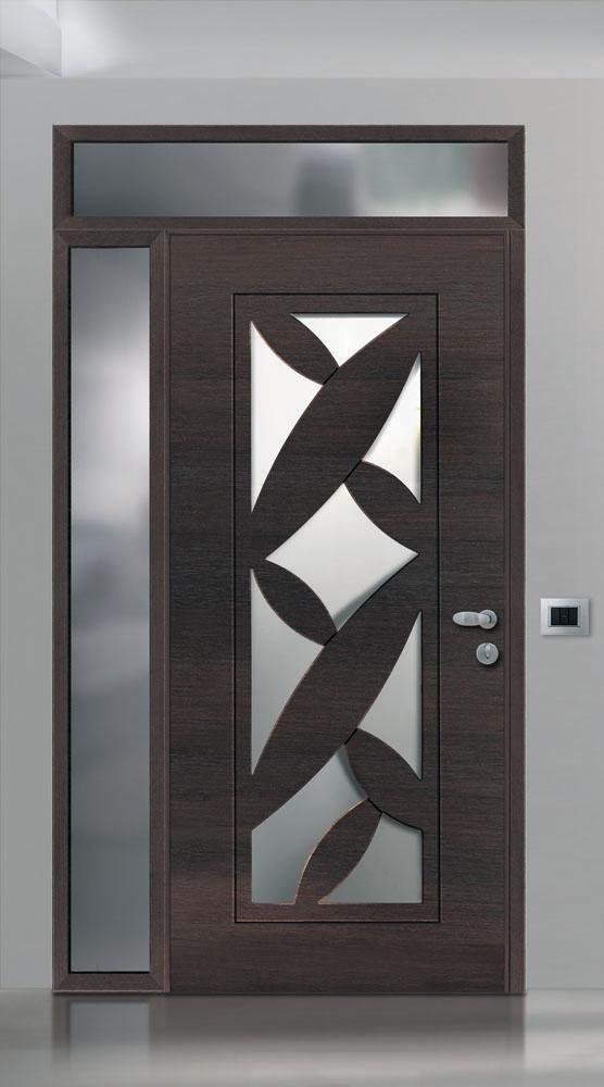 porta blindata con decorazione