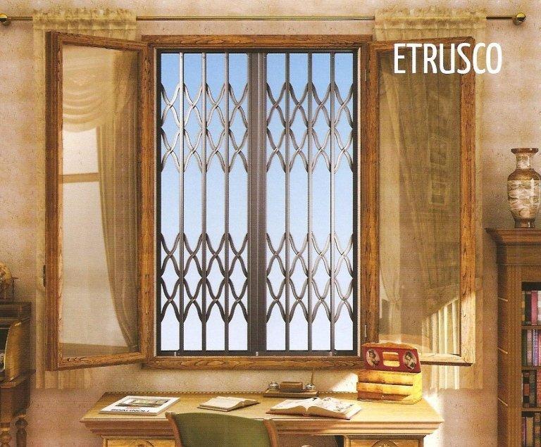 disegno di una finestra ETRUSCO