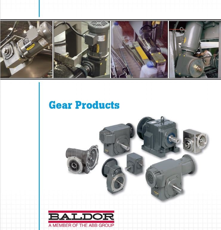 Industrial equipment components custom fabrication for Baldor gear motor catalog