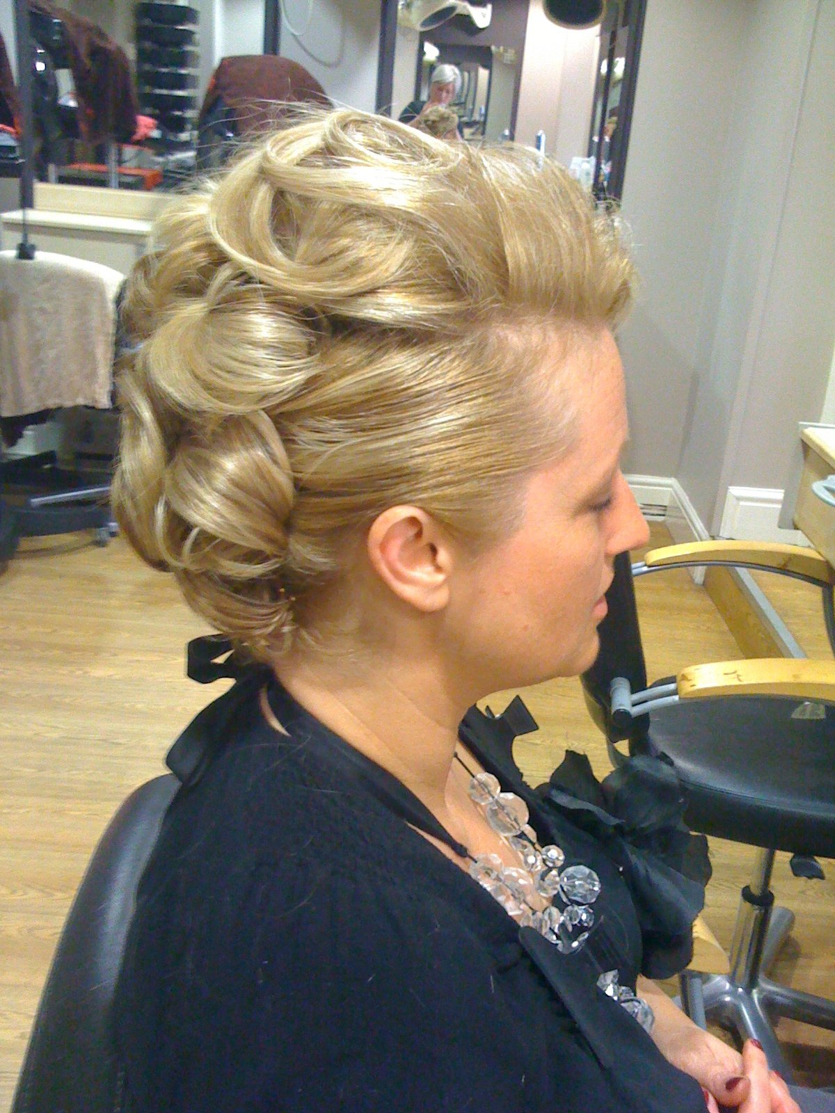 beautifully styled women's hair