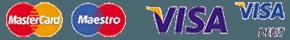 MASTERCARD MAESTRO VISA logos