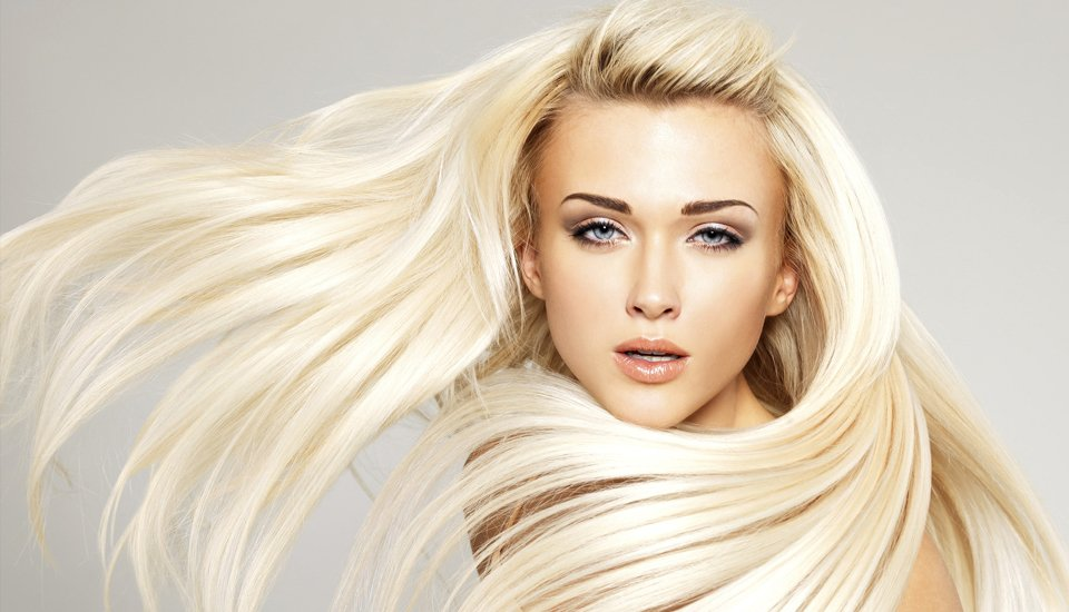 white silky hair