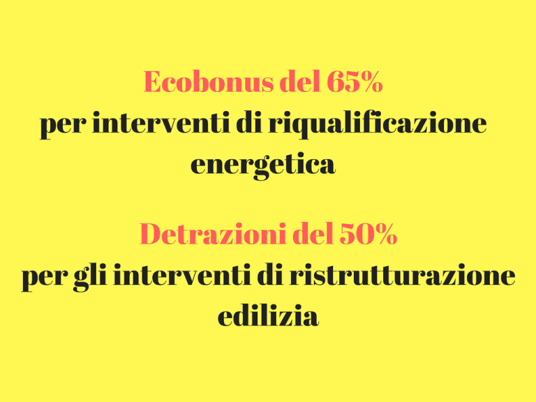 detrazioni fiscali ed ecobonus
