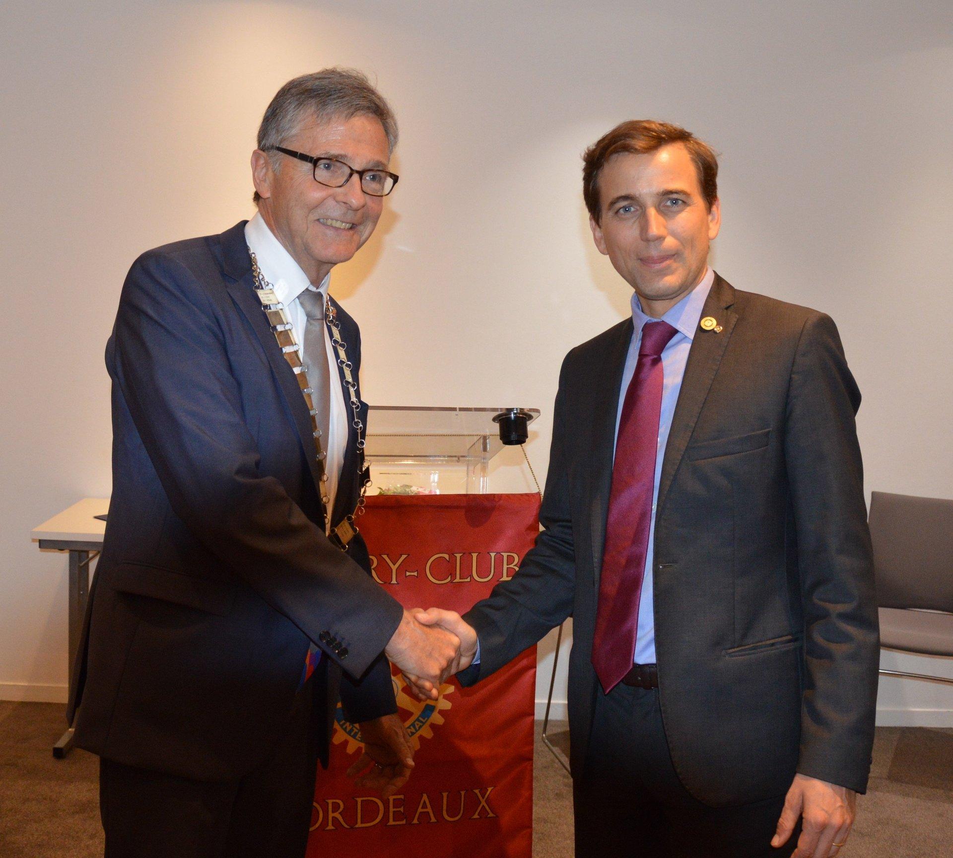 Passation des pouvoirs 2017 / 2018 Heymans Bach Rotary Club Bordeaux