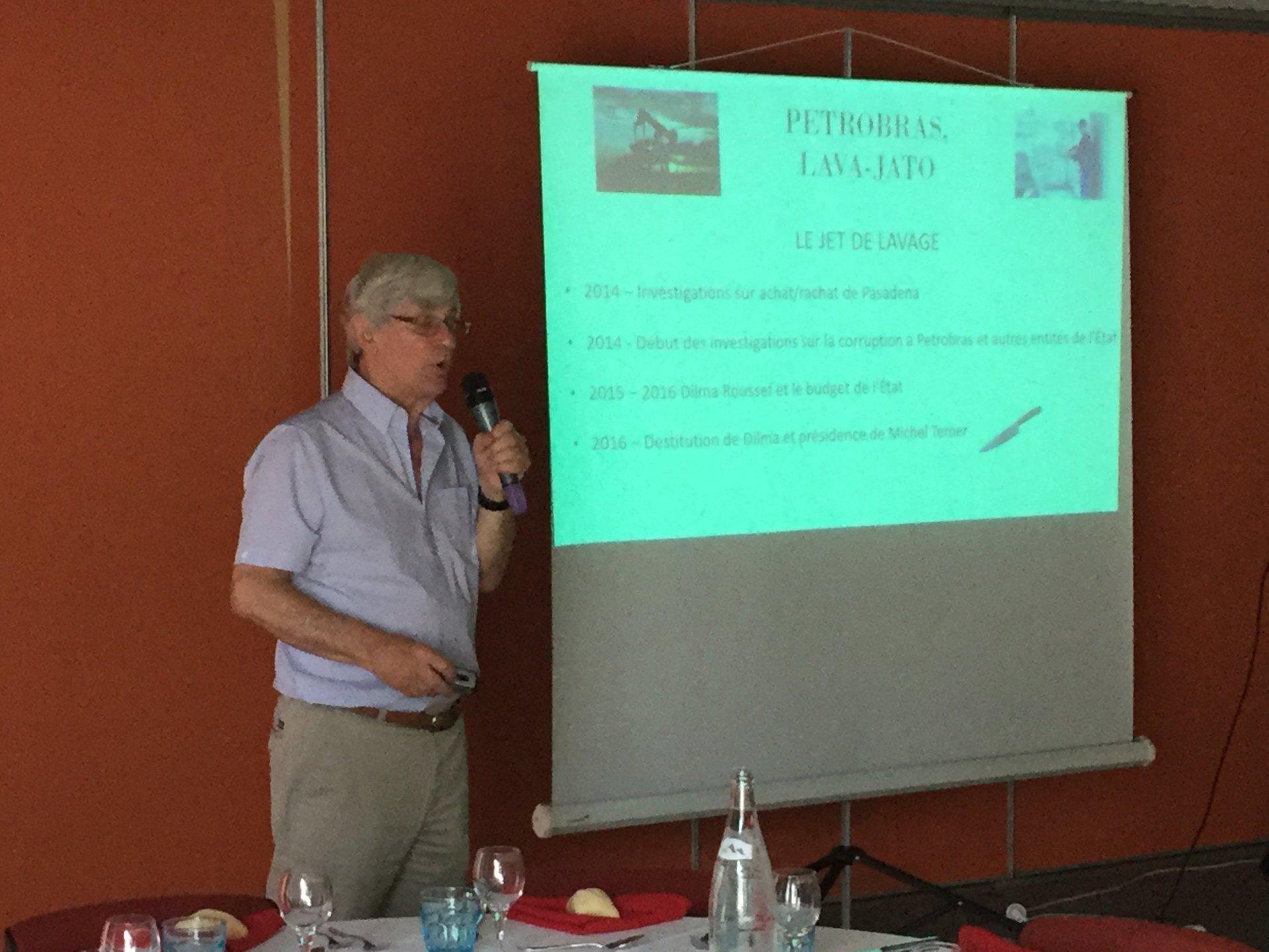 Jean-Pierre FRANKENHUIS, Rotary Club Bordeaux, conférence Brésil