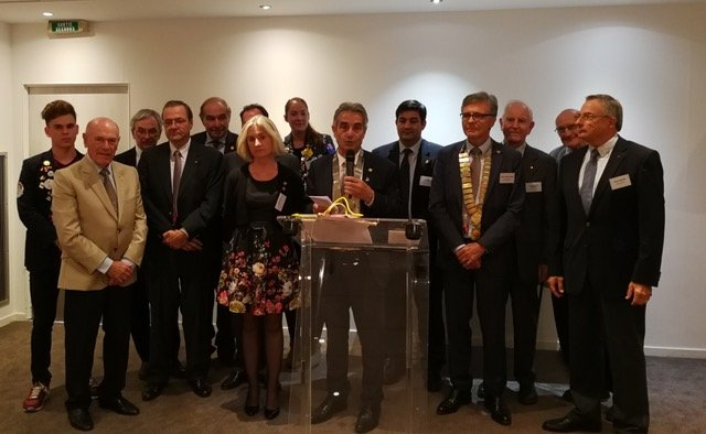 Rotary Club Bordeaux - Visite gouverneur 1690 Jean-Paul Nouhaud
