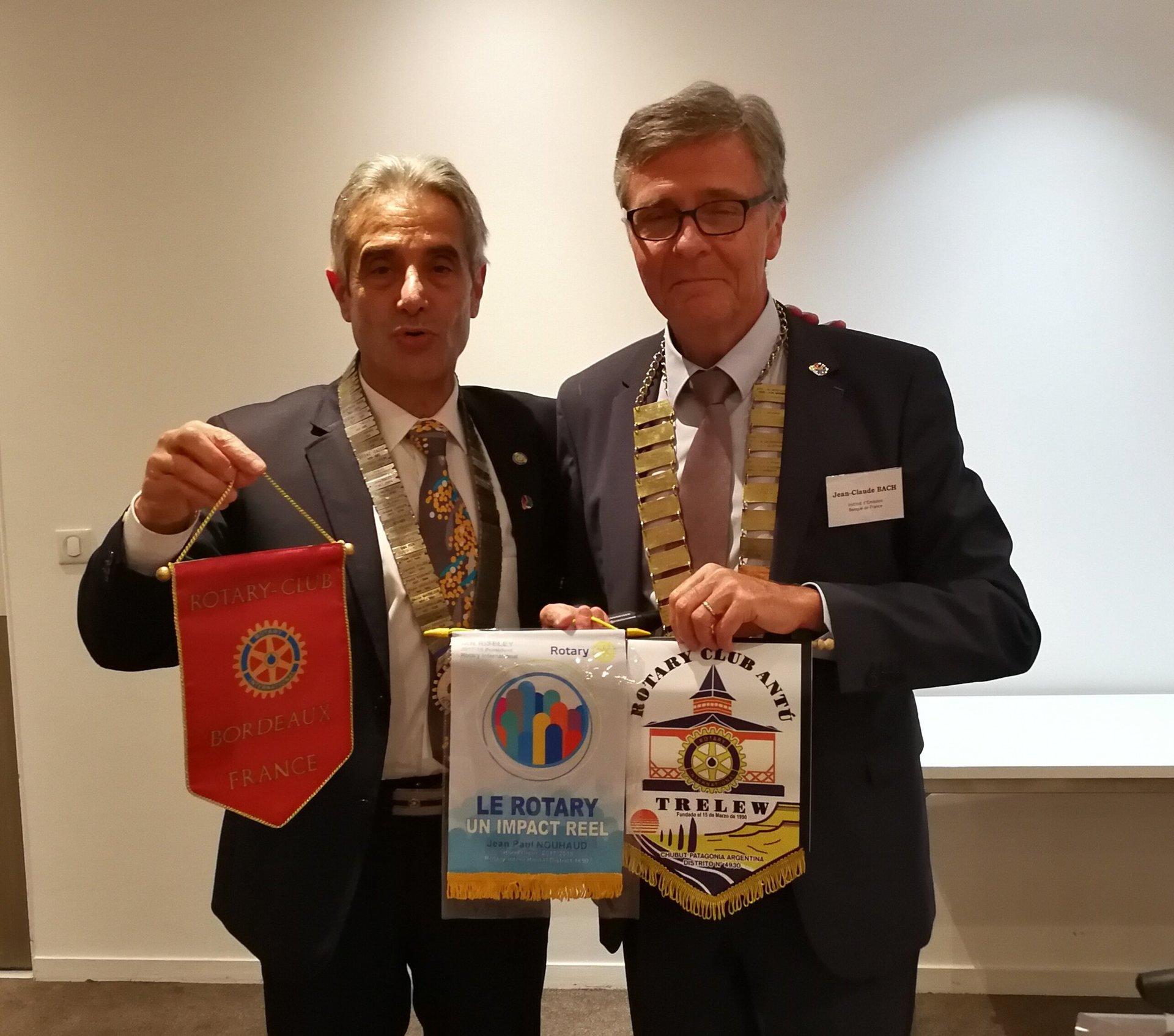 Rotary Club Bordeaux - District 1690 : Jean-Paul NOUHAUD - Jean-Claude BACH