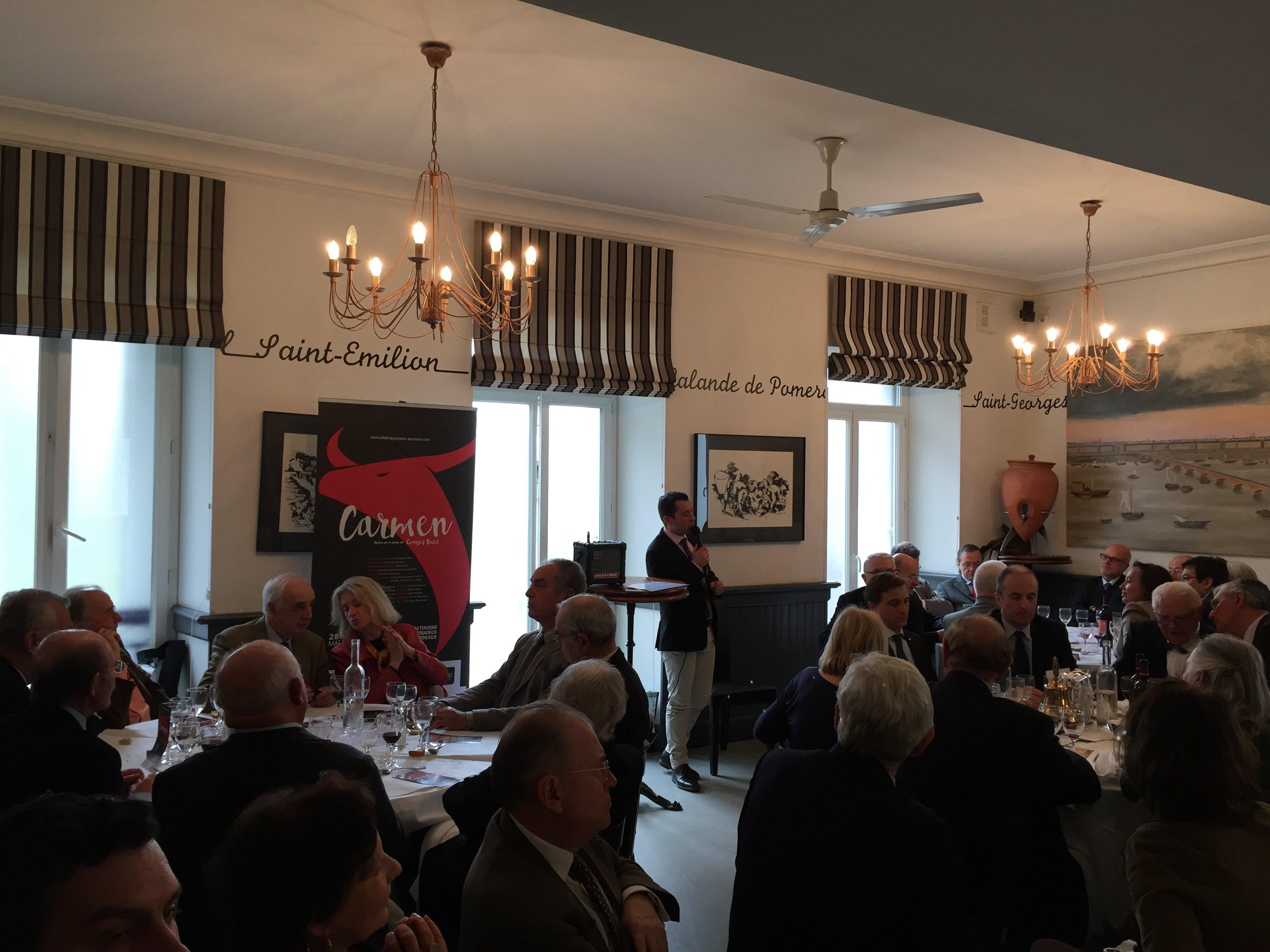 Photo déjeuner Rotary Club Bordeaux présentation Carmen Lionel Gaudin Villard mars 2017