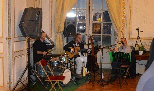 Photo, trio musical Samabaia, anniversaire 90 ans Rotary Club Bordeaux