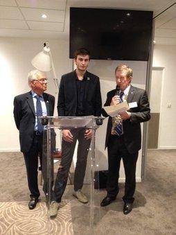 Clément VICARD, Prix du Travail Manuel 2016, Rotary Club Bordeaux