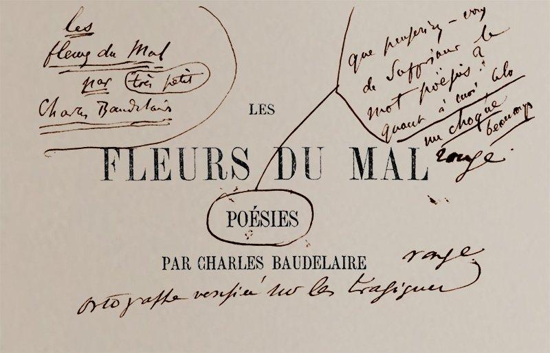 Photo manuscrit Baudelaire