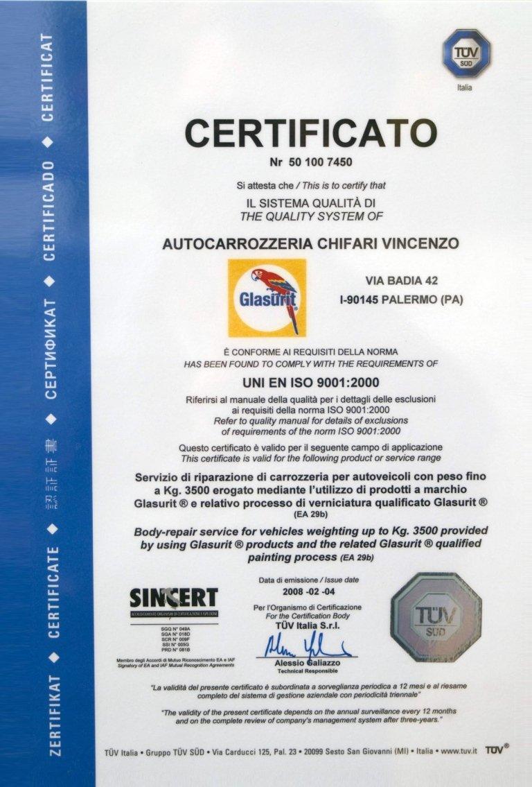 carrozzeria certificata