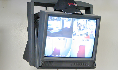 Security camera monitoring screen installed in Cincinnati, OH