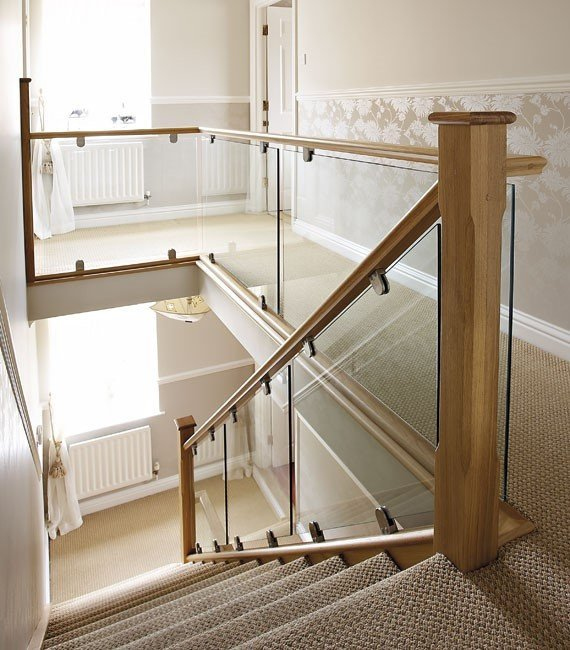 glass railing staircase