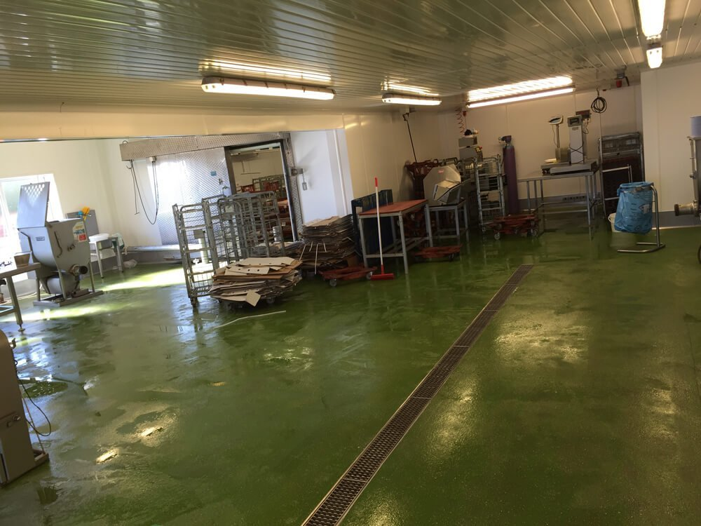 Food Production Flooring - green