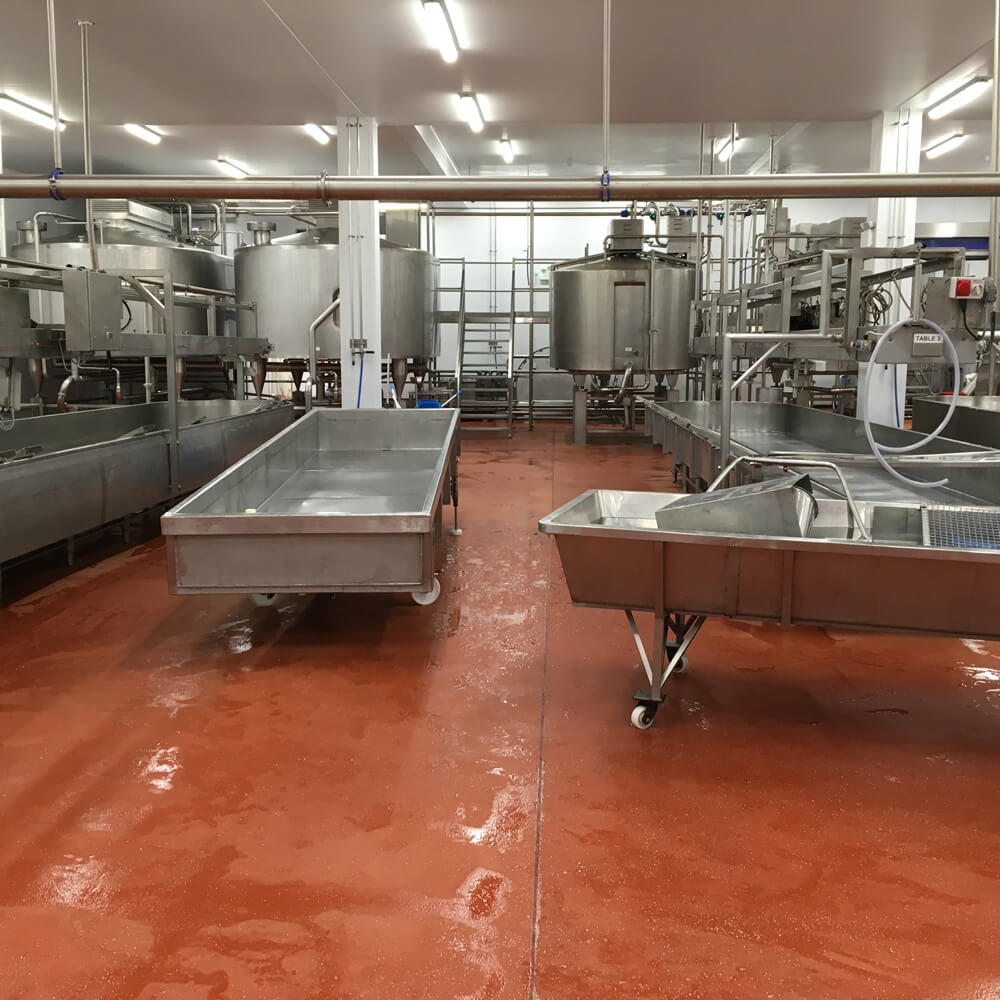 Food Production Flooring - red
