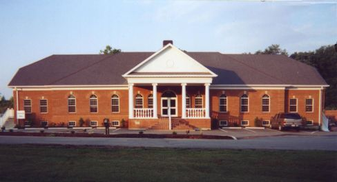 Example of a red brick building