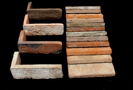 Different types of thin bricks