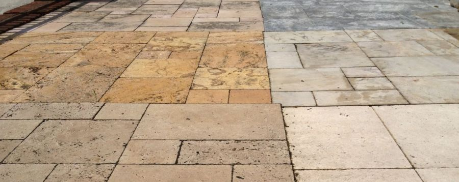 Stone tile pavement