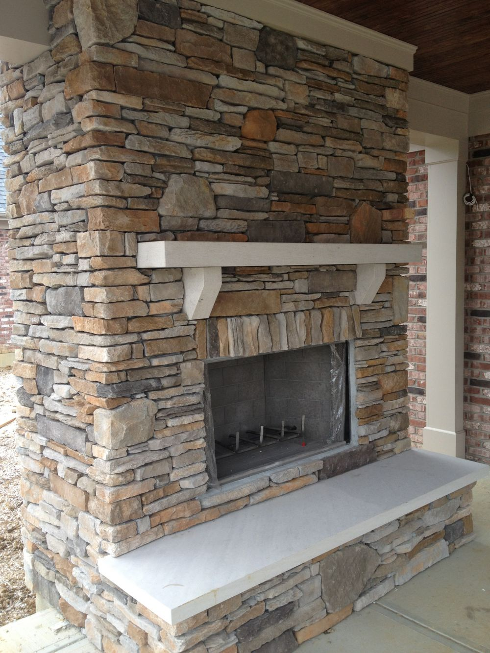 Cultured Stone - interior view of work