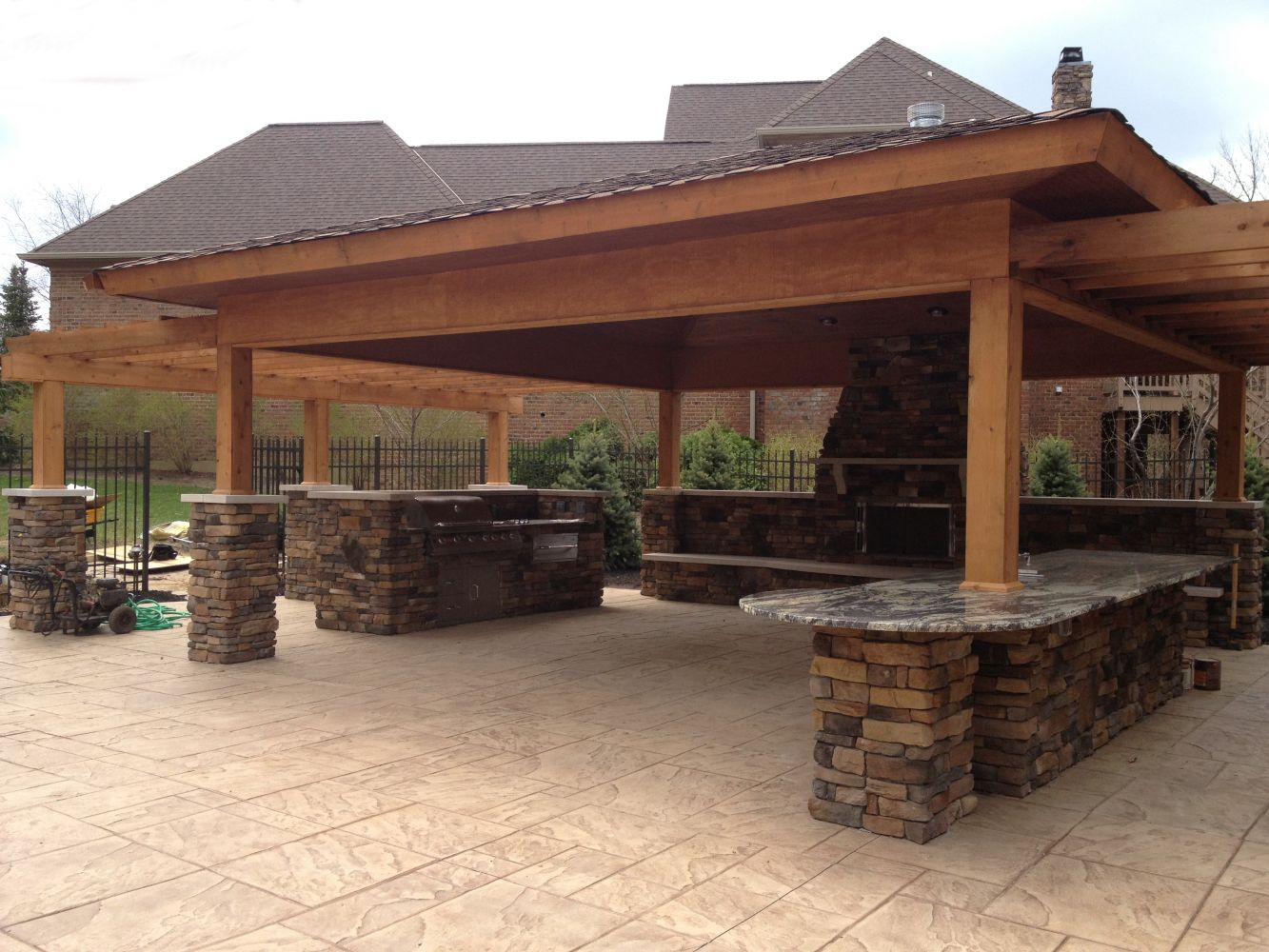 Cultured Stone – after completion of project