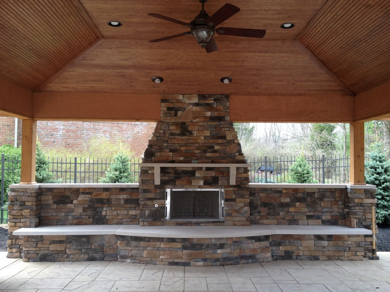 Cultured Stone – interior view of project
