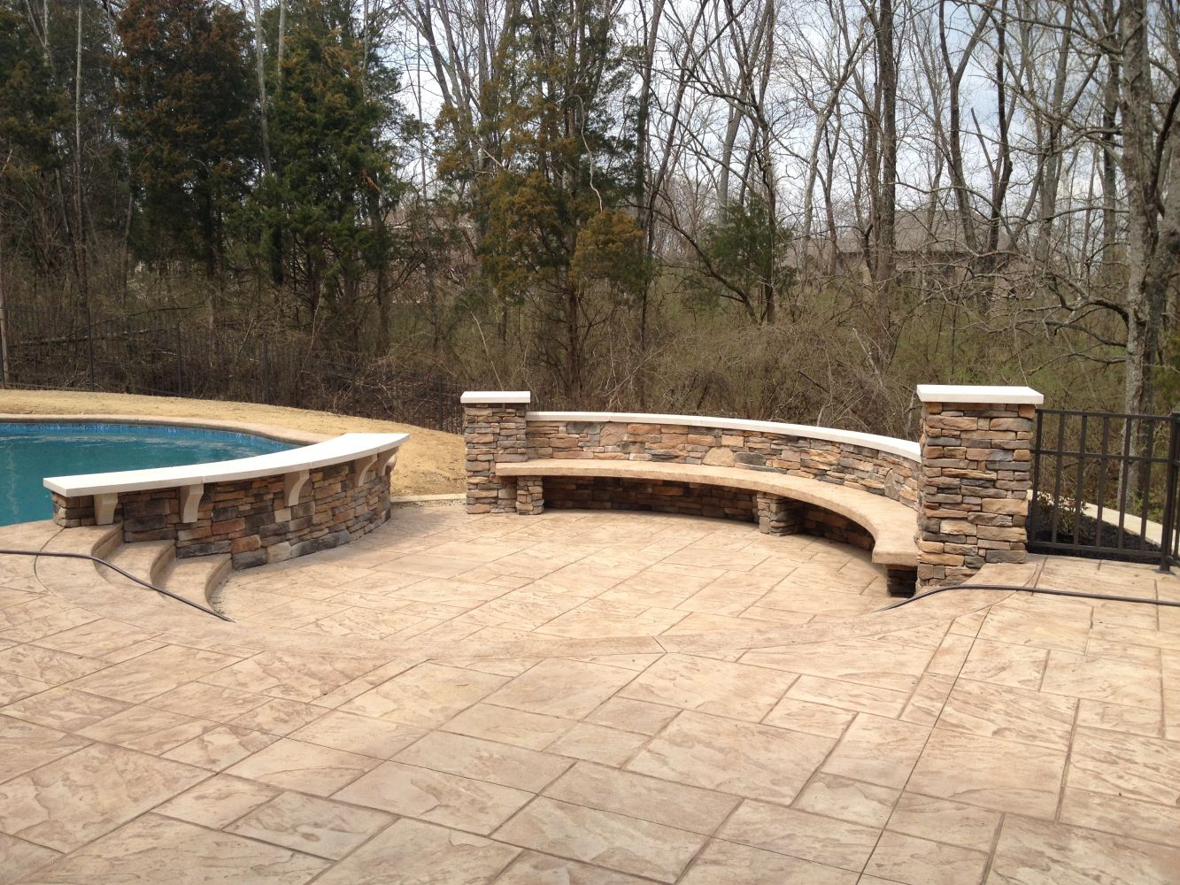 Cultured Stone – swimming pool project