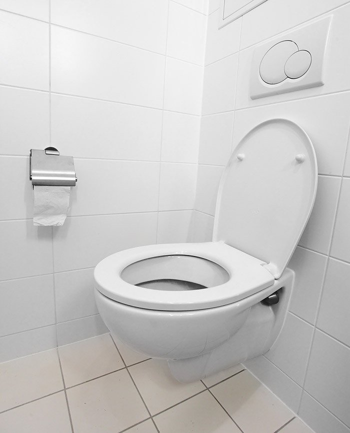 Clean, working toilet after a service by waste experts