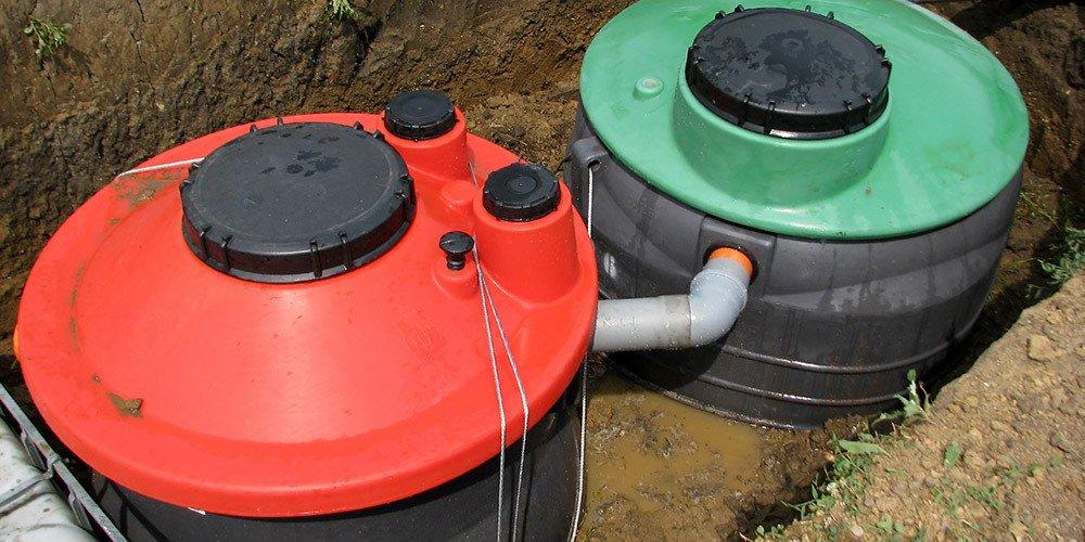 Underground septic tanks