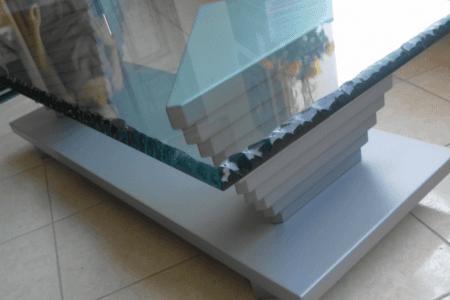 tavolo, vetro, legno