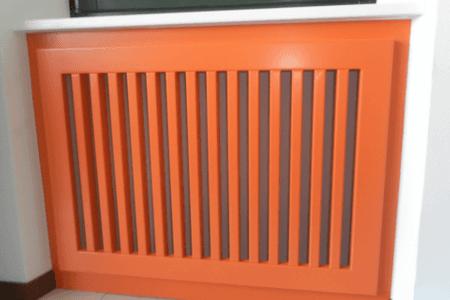 griglia, legno, arancione
