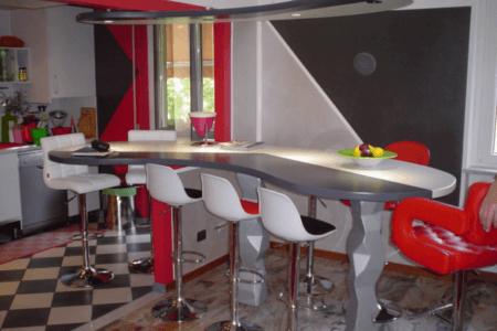 cucina, legno, arredamento moderno