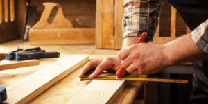 falegname, metro, misure, legno