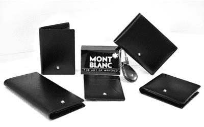 assortimento portafogli a marchio MONT BLANC