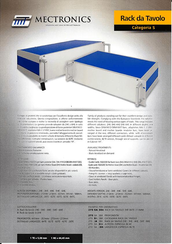 Mectronics - prodotto rack da tavolo - categoria S