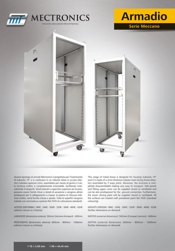 Mectronics - prodotto armadio - serie meccanico