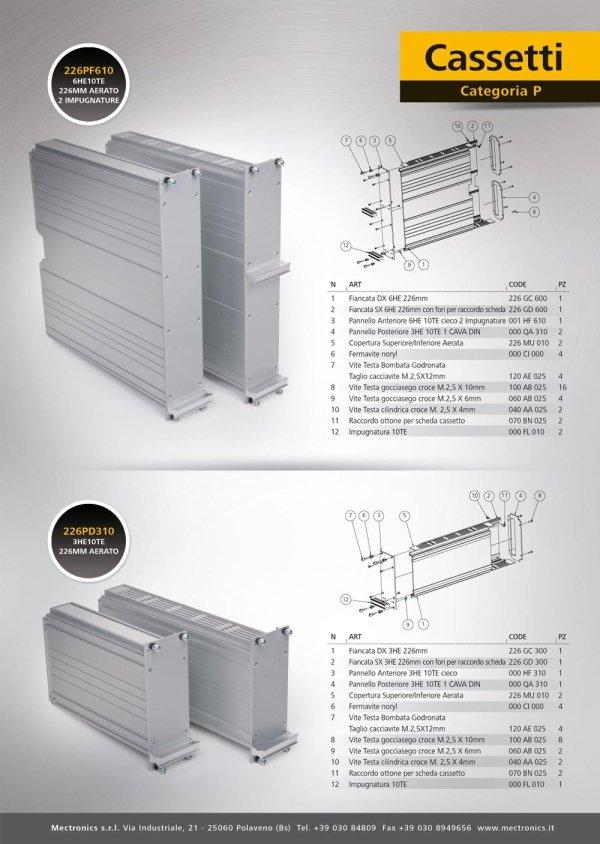 Mectronics - prodotto cassetti - categoria P