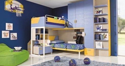 cameretta blu e gialla