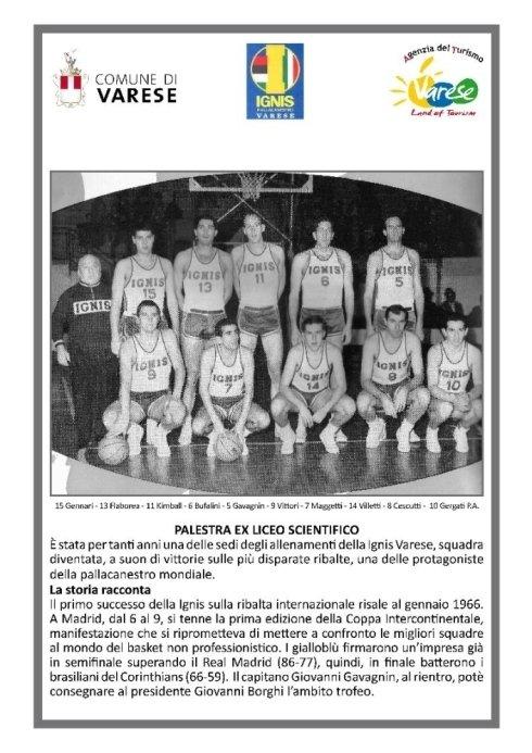 il grande basket a Varese