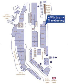 Money transfer - Windsor, Berkshire - Windsor Travelmoney - Windsor Map