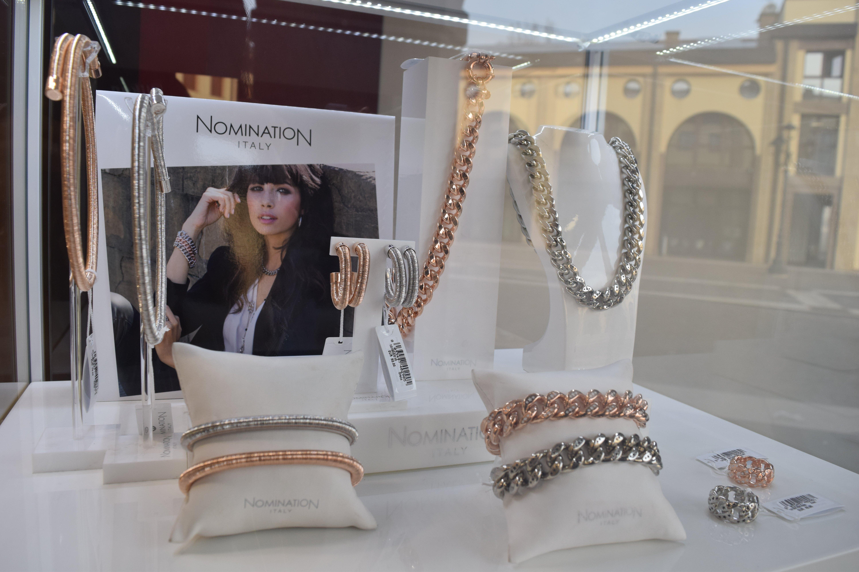 braccialetti  e collana da donna in argento e oro rosa