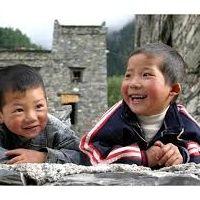 bimbi orientali che sorridono