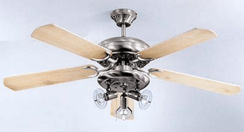 Ventilatore a soffitto completo di gruppo luce