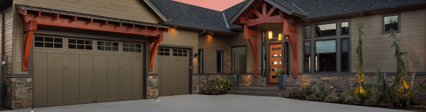 advance garage door systems beautiful home exterior at night