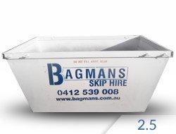 2.5 cubic metre skip hire