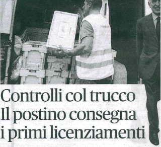 Articolo Fatto Italiano servizio poste
