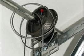 Broken garage door cable