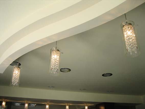soffitto bianco con luce