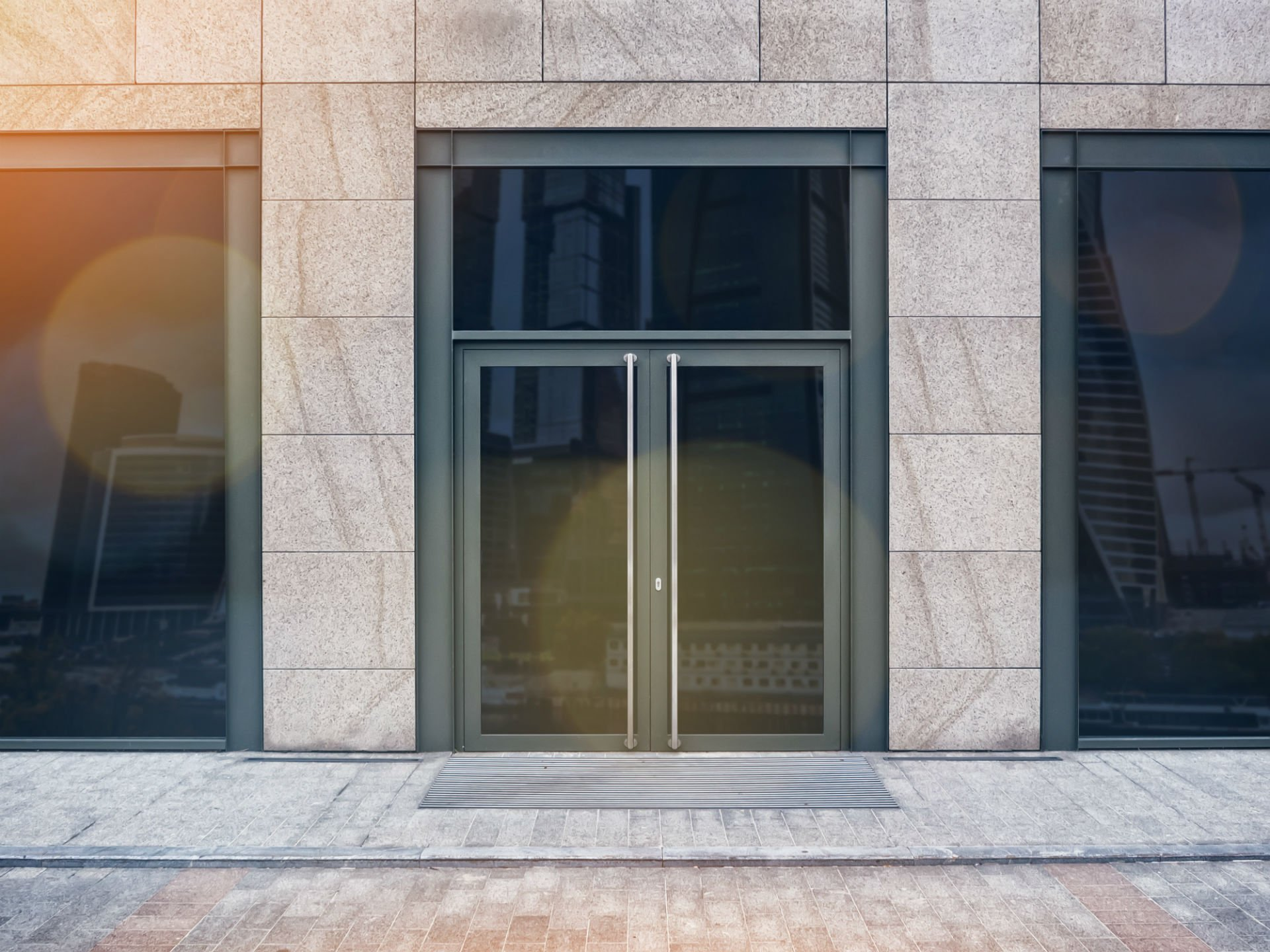 doppia porta a vetro