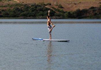 sup yoga carlsbad lagoon